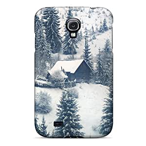 (Gkw8730Kink)durable Protection Case Cover For Galaxy S4(snowed In At Christmas)