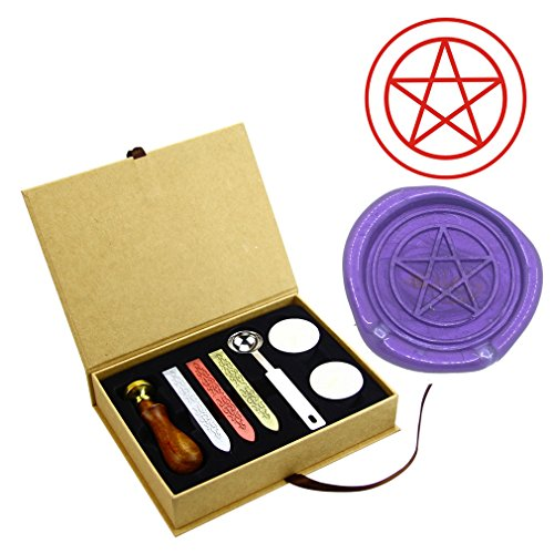 ZOVEE Star Pentagram Five 5 Pointed Symbol Classic Comic Classic Wax Seal Stamps Custom LOGO Wax Brass Stamps