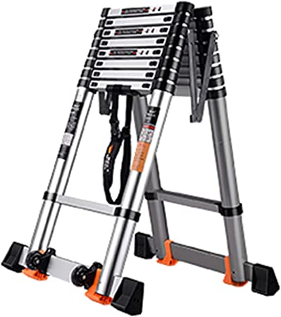 LJSJT Escalera Telescópica Escalera Tipo A Altura Ajustable Marco de aleación de Aluminio Peso del rodamiento 150kg Múltiples tamaños (Tamaño : 3.5+3.5m): Amazon.es: Hogar