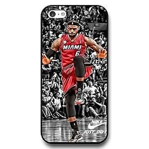 UniqueBox - Customized Personalized Black Hard Plastic iPhone 5c Case, NBA Superstar Cleveland Cavaliers Lebron James iPhone 5C case, Only Fit iPhone 5C Case