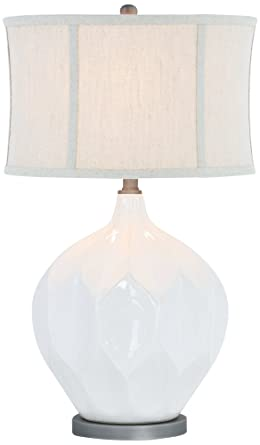 Jasmine Glazed White Ivory Ceramic Table Lamp Amazon Com