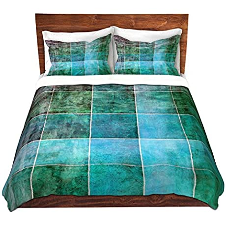 DiaNoche Designs Microfiber Duvet Covers Angelina Vick Ocean Shades