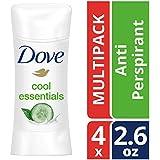 Dove Advanced Care Antiperspirant Deodorant, Cool Essentials, 2.6 oz, 4 count