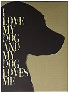 ArteHouse 9 in. x 12 in. I Love My Dog Wood Sign