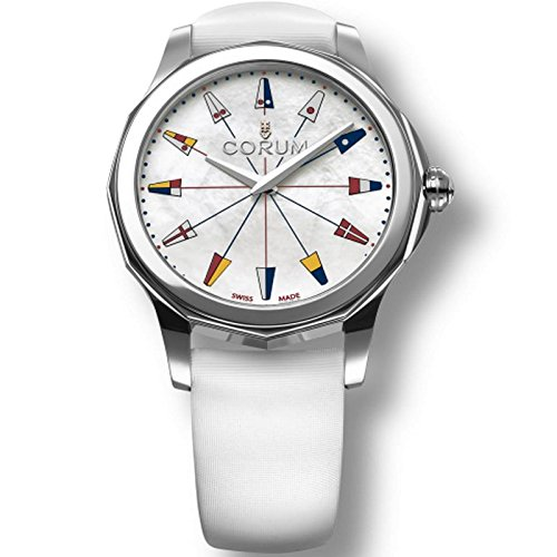 (Corum Women's Admiral's Cup Legend 38 38mm White Satin Band Steel Case Quartz Watch 020.201.20/0049 PN22)