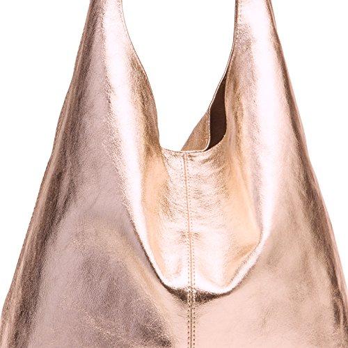 One CASPAR véritable Sac femme Taille en Size rosé TL767 pour à doré Couleur daim nHwRqwTz