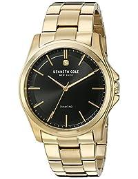 "Kenneth Cole New York Men's 10027421 Genuine Diamond ""Rock Out"" Analog Display Japanese Quartz Gold Watch"