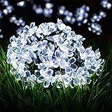 SKYFIRE Solar Flower String Lights,22ft 50 Led