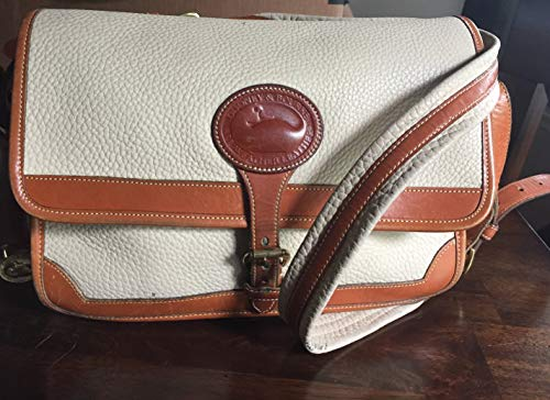 - Dooney & Bourke Vintage Leather Handbag / Shoulder Bag (Taupe / British Tan) - Great Gift Giving Idea for Women!