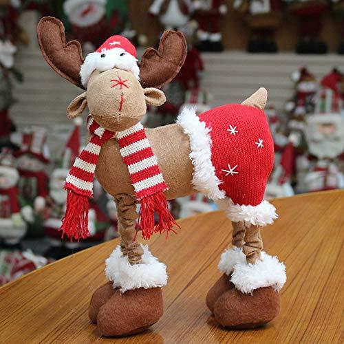 Christmas Decor, Handmade Christmas Plush Rustic Plaid Moose Stuffed Animal Gift Home Ornaments ()