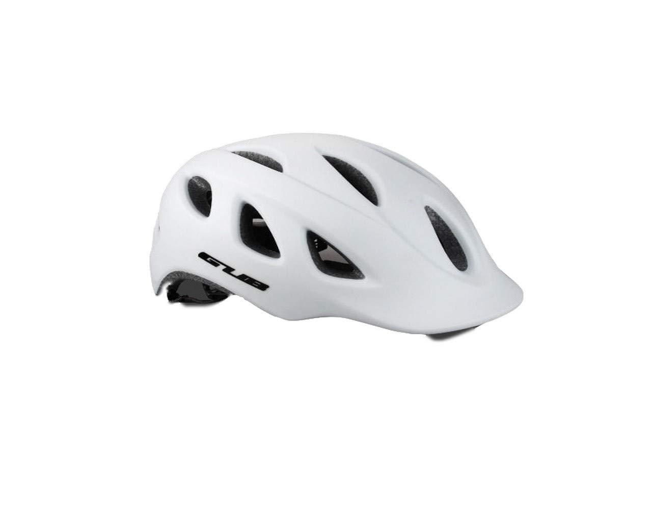 超軽量 サイクリングヘルメット 安全バイク通気 高剛性 男女 サイズ調整可能  白い B07QF24918