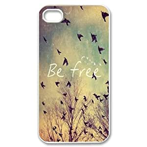 Be Free Classic Personalized Phone Case for Iphone 4,4S,custom cover case ygtg581001 wangjiang maoyi