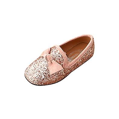 f24ce847f4766 Xmiral Chaussure Enfant Fille Danse Bowknot Crystal Bling fête Princesse  Soulier (26 EU
