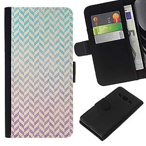 KLONGSHOP // Tirón de la caja Cartera de cuero con ranuras para tarjetas - Modelo blanco minimalista trullo Rosa - Samsung Galaxy A3 //