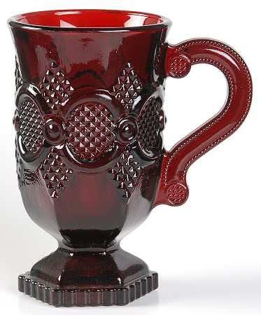 Vintage AVON Ruby Red Pedestal Cape Cod Mug