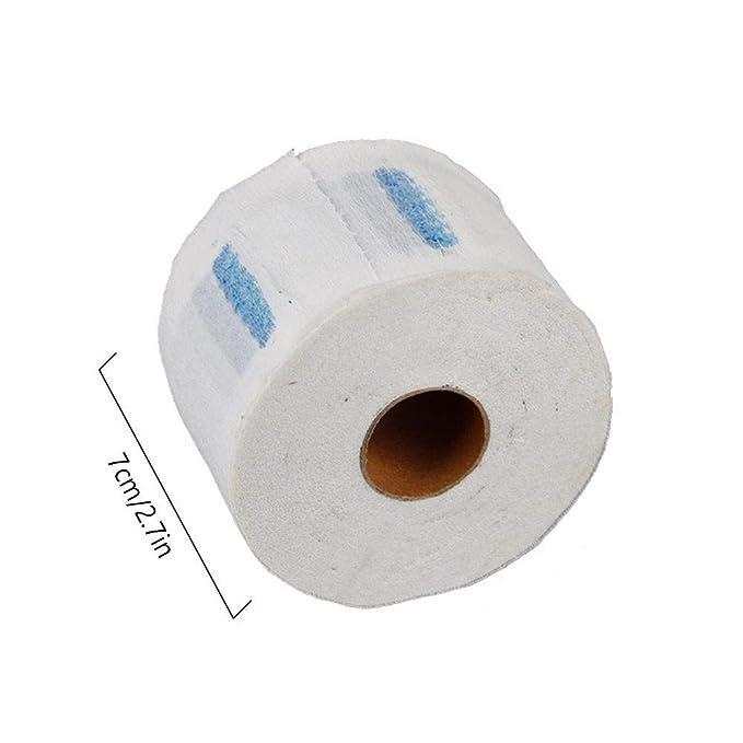 Papel de cuello, MOGOI 5 rollos de tiras de papel de protección de cuello desechables, cuello de peluquería elástico cubrir toalla de papel para ...