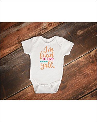 Fixin' To Cry Bodysuit - Baby Girl Gift - Baby Clothes - Baby Shower Gift - New Baby Gift - Newborn Clothes - BO0026 (Fixins Gift)