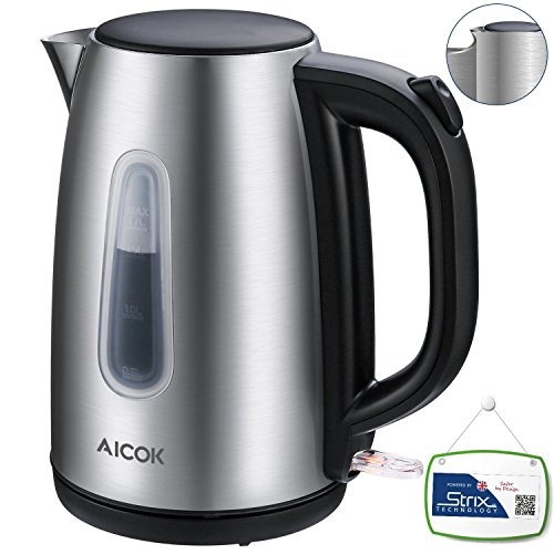 aicok electric kettle bpa free fast boiling 1500watts. Black Bedroom Furniture Sets. Home Design Ideas