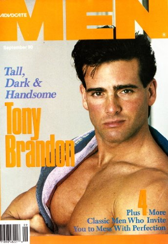 Advocate Men - September 1990 (Magazine Gay Male Nude Photos Photography) (Dark and Handsome Tony Brandon)