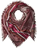 Echo Women's Oversized Plaid Cotton Square Scarf Accessory, mulberry, One Size