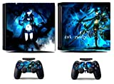 MightyStickers - Black Rock Shooter PS4 Pro Console Wrap Cover Skins Vinyl Sticker Decal Protective for Sony PlayStation 4 Pro & Controller