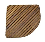 great triangle corner shower SeaTeak 60023 Teak Shower or Door Mat, Oiled Finish, Triangular