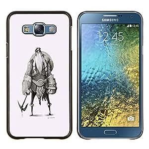"""Be-Star Único Patrón Plástico Duro Fundas Cover Cubre Hard Case Cover Para Samsung Galaxy E7 / SM-E700 ( Vikingo Sketch Carácter Shield Warrior"""" )"""