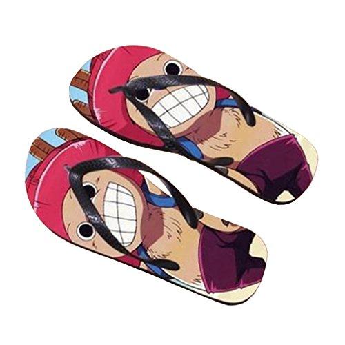 Bromeo One Piece Anime Unisex Flip Flops Chanclas 376