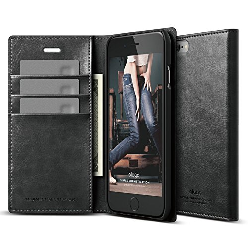 iPhone elago Leather Wallet Black
