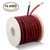 600 volt wire - MILAPEAK 14 Gauge Silicone Wire 40 Feet [20 ft Black and 20 ft Red] - Ultra Soft and Flexible/High Temperature Resistant - 600V 14 AWG Silicone Rubber Wire with 400 Strands of Tinned Copper Wire