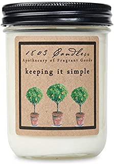 product image for 1803 Candles - 14 oz. Jar Soy Candles - (Keeping it Simple)