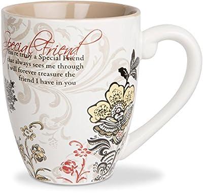 Mark My Words Special Friend Mug, 4-3/4-Inch, 20-Ounce Capacity