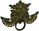 Evil Eye Protection Brass Door Knocker - Green Door Decor