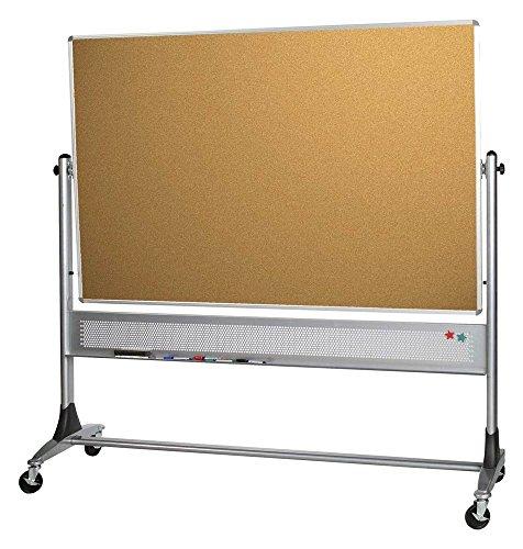 Reversible Markerboard Cork Board - Platinum Reversible Boards - Markerboard/Natural Cork (72 in. W x 48 in. H (166 lbs.))