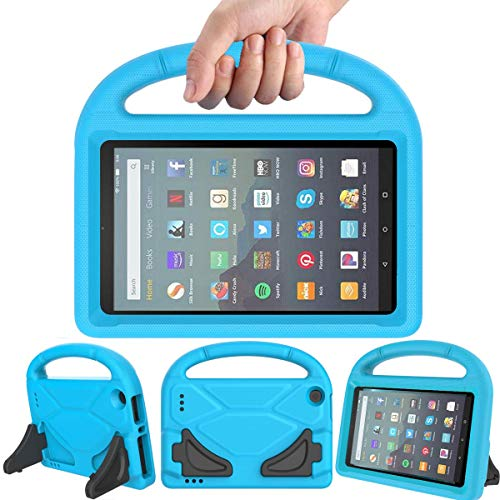 LEDNICEKER Case for All-New Fire 7 Tablet (9th Generation - 2019 Release) - Kids/Toddler Shockproof Portable Handle Protective Stand Case for for Amazon Fire 7 2019 & 2017 (7 Inch Display), Blue