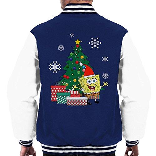 Spongebob Jacket Navy Christmas Varsity Pants Square white Tree Men's gYfwrYq1