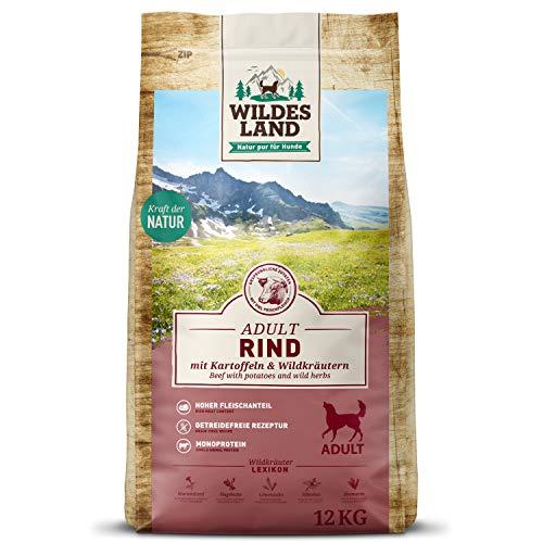 Wildes Land – Nr. 5 Rind – 12 kg – mit Kartoffeln und Wildkräutern – Glutenfrei – Trockenfutter für Hunde – Hundefutter…