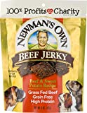 Newman's Own Beef Jerky Treats For Dogs, Beef & Sw...