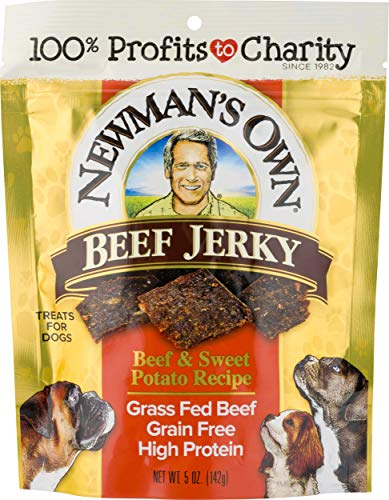 Newman's Own Beef Jerky Treats For Dogs, Beef & Sweet Potato Recipe, 5 Oz