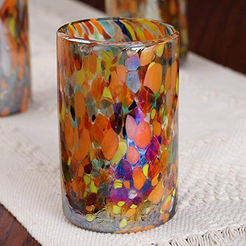 NOVICA Artisan Crafted Hand 157066''Carnival Blown Glass Tumbler, Set of 6, Bright by NOVICA (Image #3)