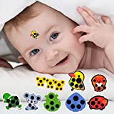 Cartoon Kid Liquid Crystal Thermometer/ Stick-on Fever Reader Indicator Mercury-Free/ Infant Forehead Temperature Strip (35℃-40℃) (8pcs random)