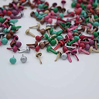 500 Pcs Mixed Color 4.5mm Mini Brads DIY Paper Craft Stamping Scrapbooking New