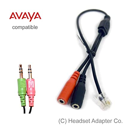amazon com avaya headset adapter for pc headset 16xx and 96xx rh amazon com Crutchfield Speaker Wiring Diagram Parallel Speaker Wiring Diagram
