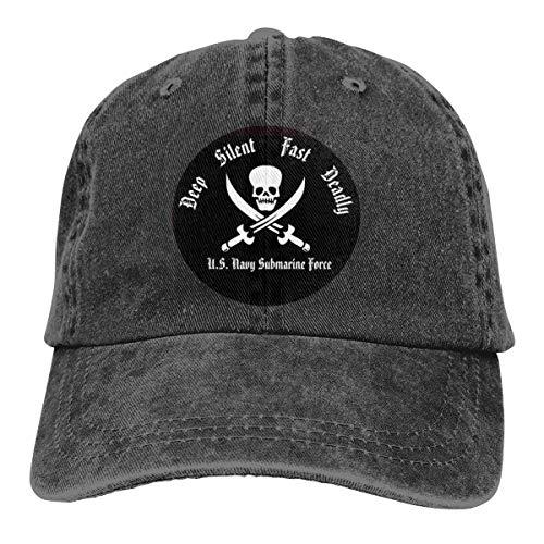 DEEP, Silent, Fast & Deadly Submarine Denim Dad Hats Adjustable Baseball Cap (Hats Submarine)