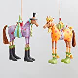 Patience Brewster Marcel & Maisy Horse Ornaments Set - 08-30766