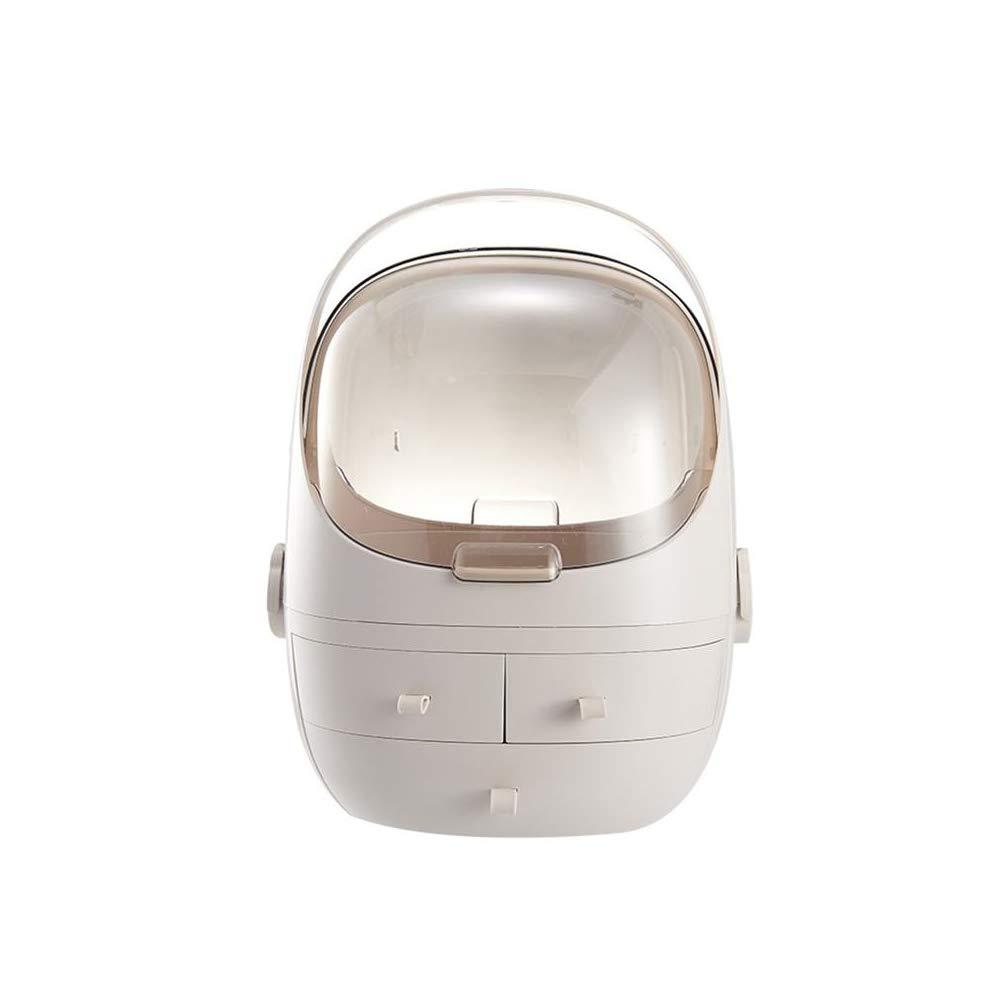 ZPAAZZZZ 1 pc Cosmetic Storage Box Dustproof Hand-held Drawer Type Desktop Plastic Organiser Makeup Holder