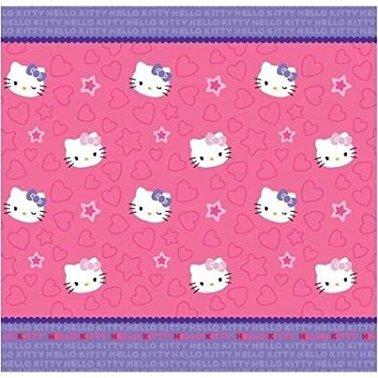 Hello Kitty Me Fabric Shower Curtain72in X 72in Pink