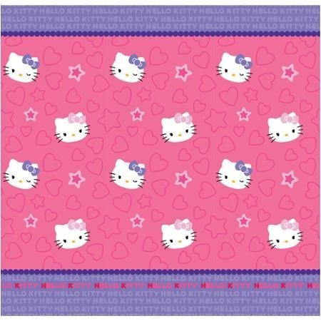 (Hello Kitty Kitty & Me Fabric Shower Curtain,72in x 72in , Pink )