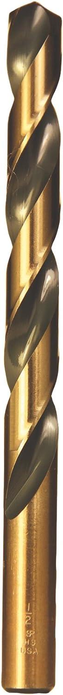 12 Pack Viking Drill and Tool 39490 D Type 240-UB 135 Degree Split Point Magnum Super Premium Jobber Drill Bit