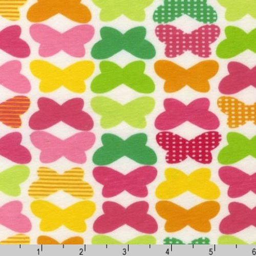 Laguna Cotton Jersey Knit Multi Colored Butterflies Fabric Two Yards (1.8m) AAKBF-12867-134 CITRUS
